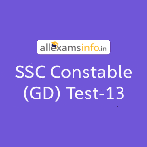 SSC Constable (GD) Test-13